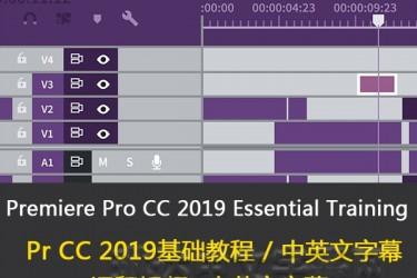 Premiere Pro 2019 Essential Training:The Basics/Pr2019基础教程/lynda教程/中英文字幕