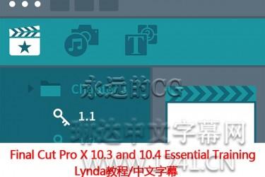 FCP基础课程/Final Cut Pro X 10.3 and 10.4 基本训练/中文字幕