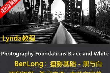 BenLong摄影基础教程 – 黑与白/lynda教程/中英文字幕